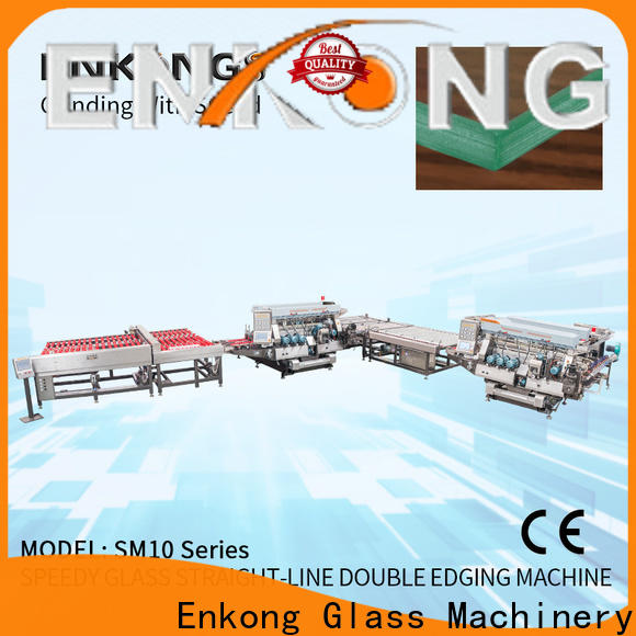 Custom glass double edger SM 22 company for photovoltaic panel processing