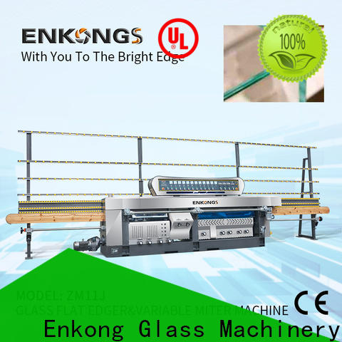 Enkong 5 adjustable spindles glass machinery company suppliers for round edge processing