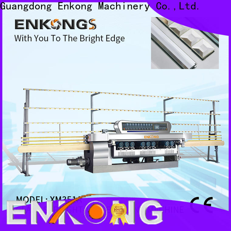Enkong 10 spindles glass beveling machine factory for glass processing