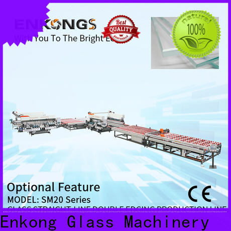 Enkong Latest automatic glass edge polishing machine manufacturers for photovoltaic panel processing