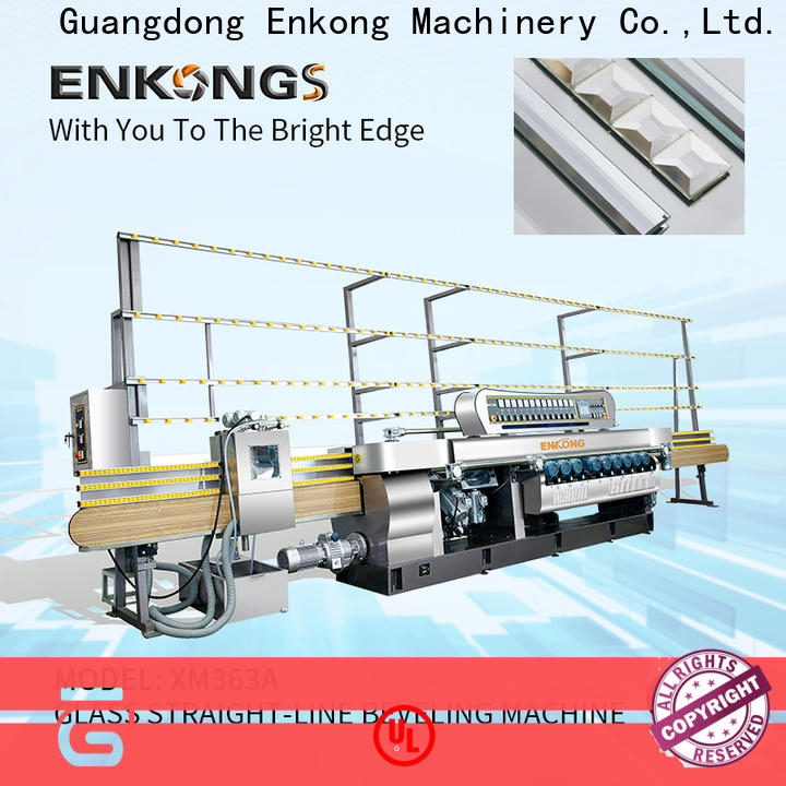 Enkong 10 spindles glass beveling equipment suppliers for glass processing