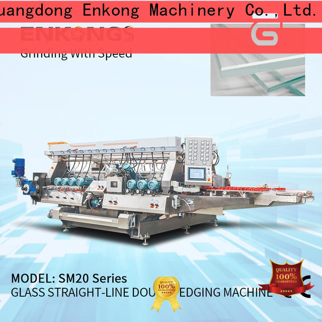 Enkong SM 20 glass double edger factory for round edge processing