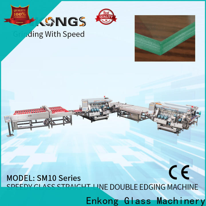 Enkong SYM08 glass double edging machine factory for photovoltaic panel processing