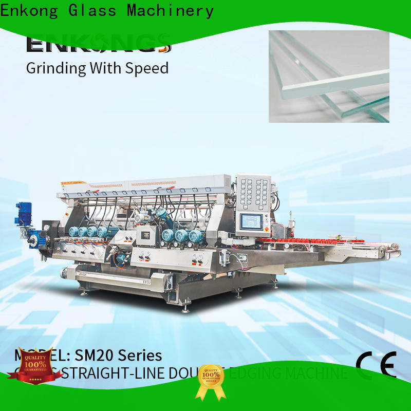Enkong New automatic glass edge polishing machine for business for photovoltaic panel processing