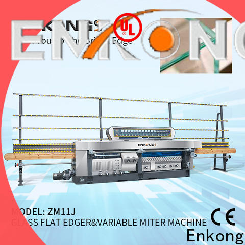 Enkong 5 adjustable spindles glass mitering machine manufacturers for round edge processing