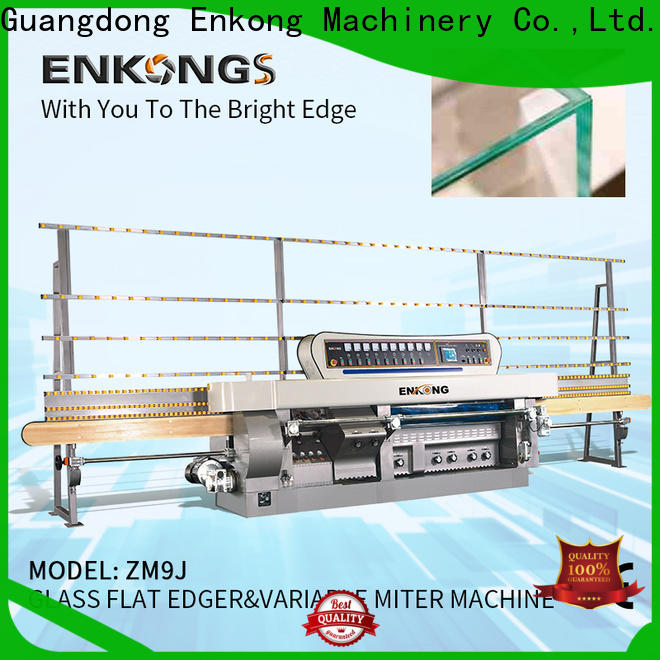 Top glass mitering machine 5 adjustable spindles supply for round edge processing