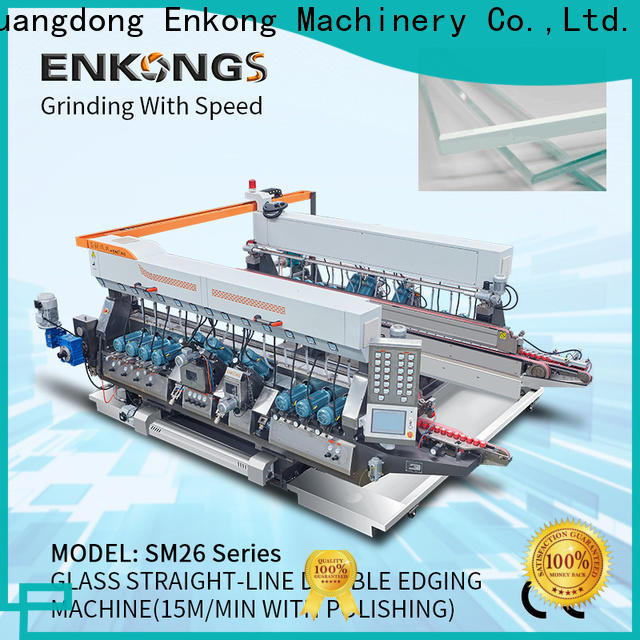 Enkong SM 26 glass double edging machine factory for photovoltaic panel processing