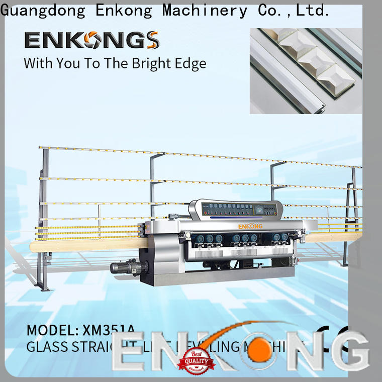 Wholesale small glass beveling machine 10 spindles factory for glass processing