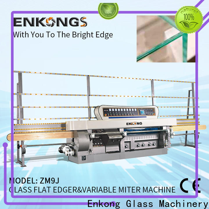Enkong ZM9J glass mitering machine company for round edge processing