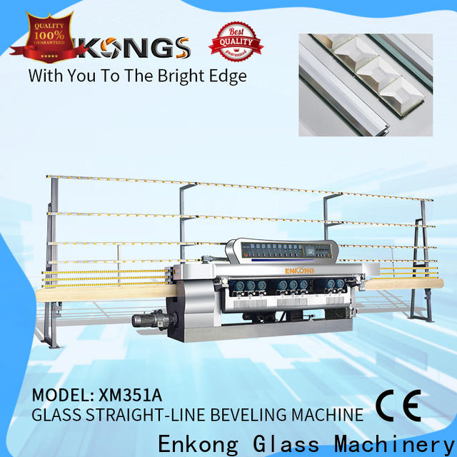 Enkong xm351 glass beveling machine price company for glass processing