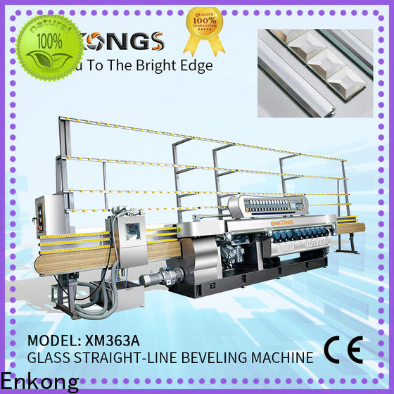 Enkong Latest glass beveling machine price manufacturers for polishing