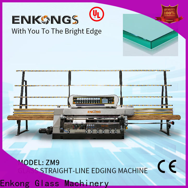 Enkong zm9 glass straight line edging machine price manufacturers for household appliances
