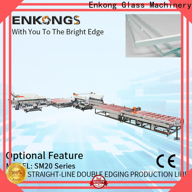 Enkong New glass double edger machine factory for round edge processing