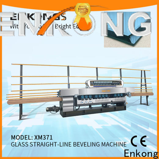 Custom glass beveling machine manufacturers 10 spindles supply for glass processing