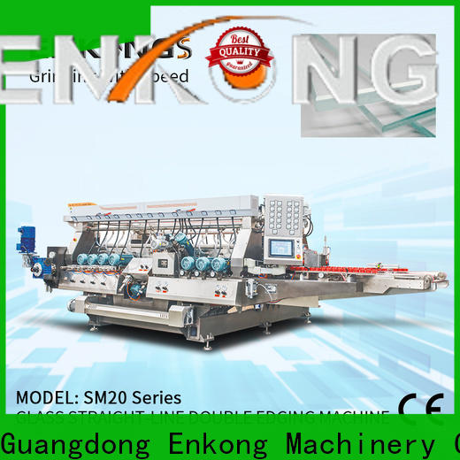 Enkong SM 22 glass double edger machine manufacturers for round edge processing