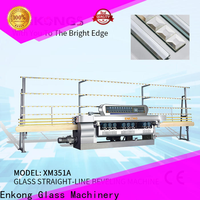 Enkong High-quality small glass beveling machine for business for glass processing