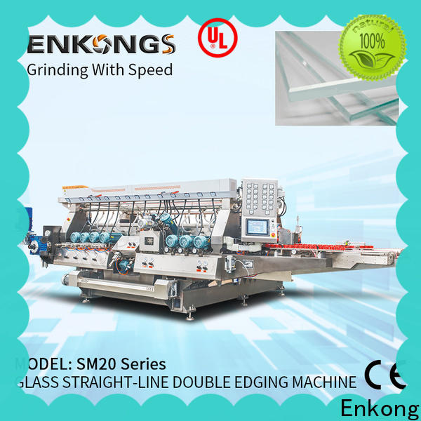 Enkong Custom glass double edging machine supply for photovoltaic panel processing