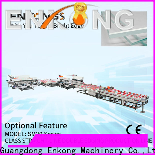 Enkong SYM08 glass double edger machine manufacturers for photovoltaic panel processing