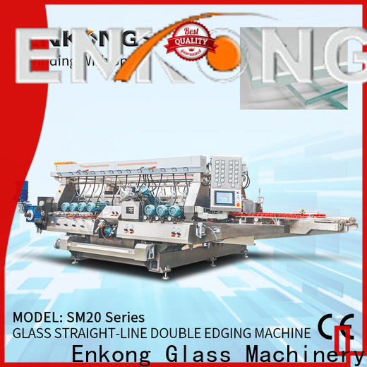 Enkong SYM08 double edger machine factory for round edge processing