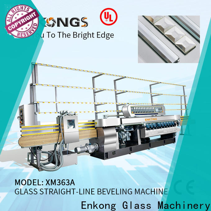 Enkong xm351a glass beveling machine price suppliers for polishing