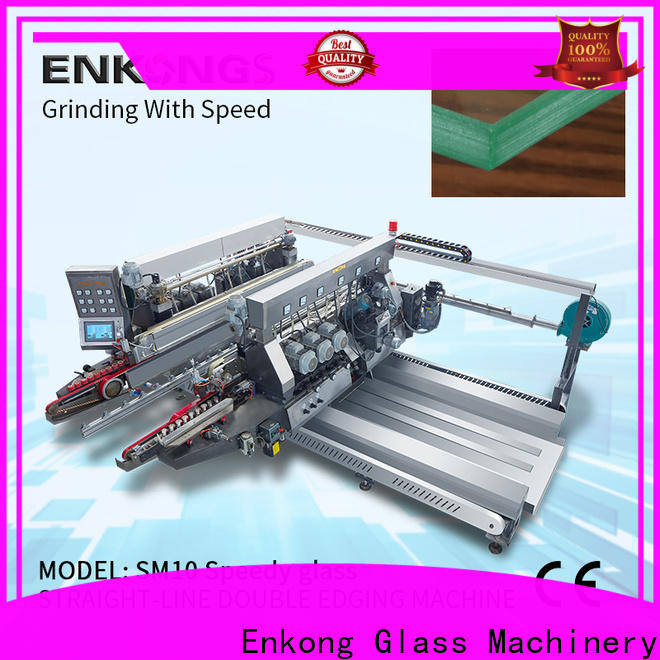 Top automatic glass edge polishing machine straight-line supply for round edge processing