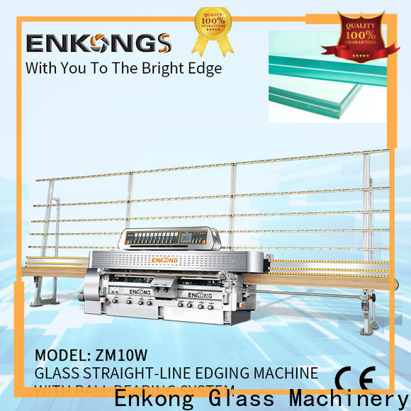 Enkong zm10w glass straight line edging machine company for processing glass