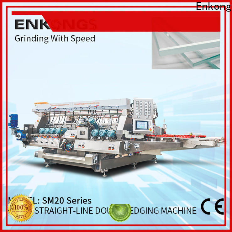 Enkong Custom glass double edger machine company for photovoltaic panel processing