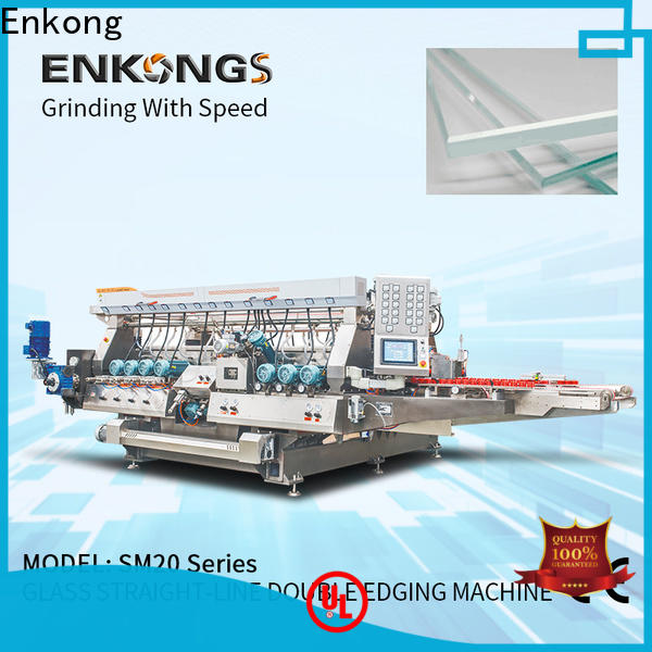 Top glass double edger SM 22 for business for round edge processing