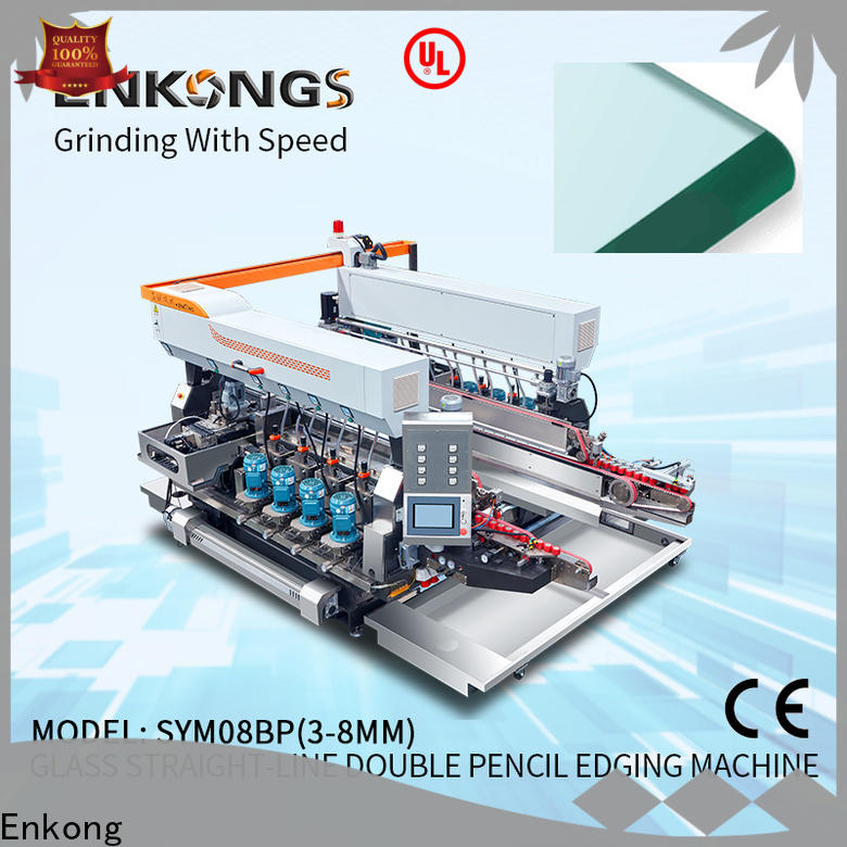 Latest glass double edger machine SM 10 suppliers for round edge processing