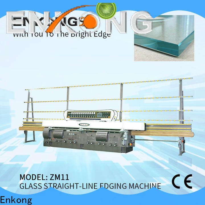 Latest glass straight line edging machine zm7y supply for photovoltaic panel processing