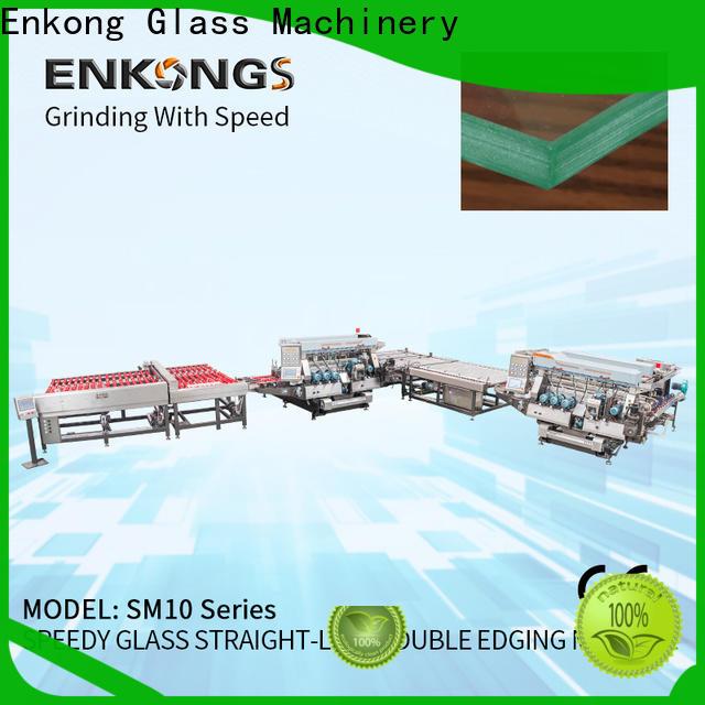 Enkong modularise design small glass edge polishing machine factory for photovoltaic panel processing
