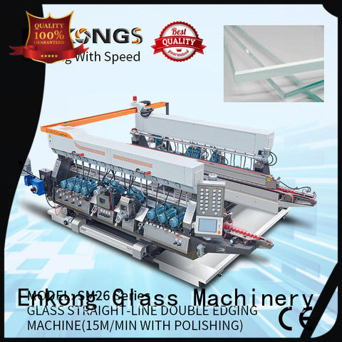 Enkong SYM08 glass double edging machine supplier for household appliances