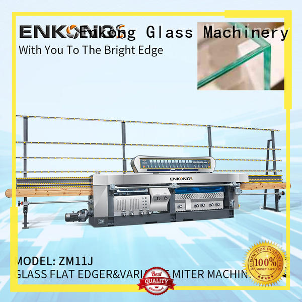 Enkong real glass mitering machine supplier for grind