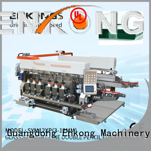 quality glass double edging machine SM 22 manufacturer for round edge processing