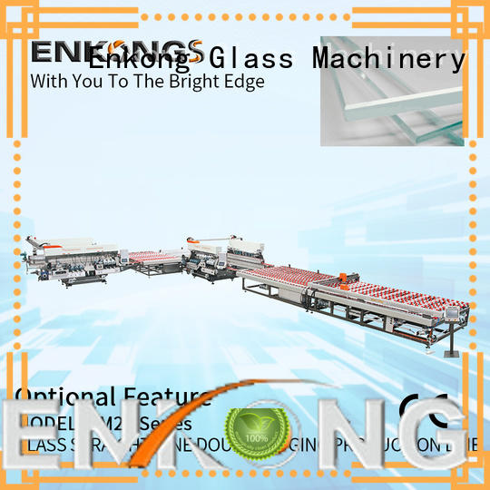 Enkong high speed double edger machine factory direct supply for photovoltaic panel processing