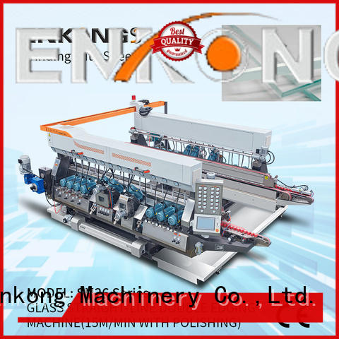 Enkong real glass double edging machine supplier for photovoltaic panel processing