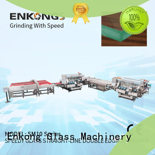 Enkong high speed double edger machine supplier for photovoltaic panel processing