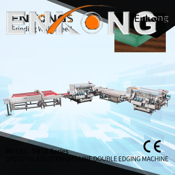Enkong high speed glass double edging machine manufacturer for photovoltaic panel processing