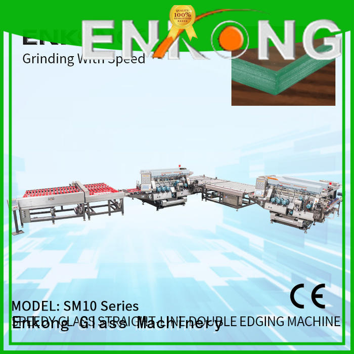 high speed glass double edging machine SM 26 series for round edge processing