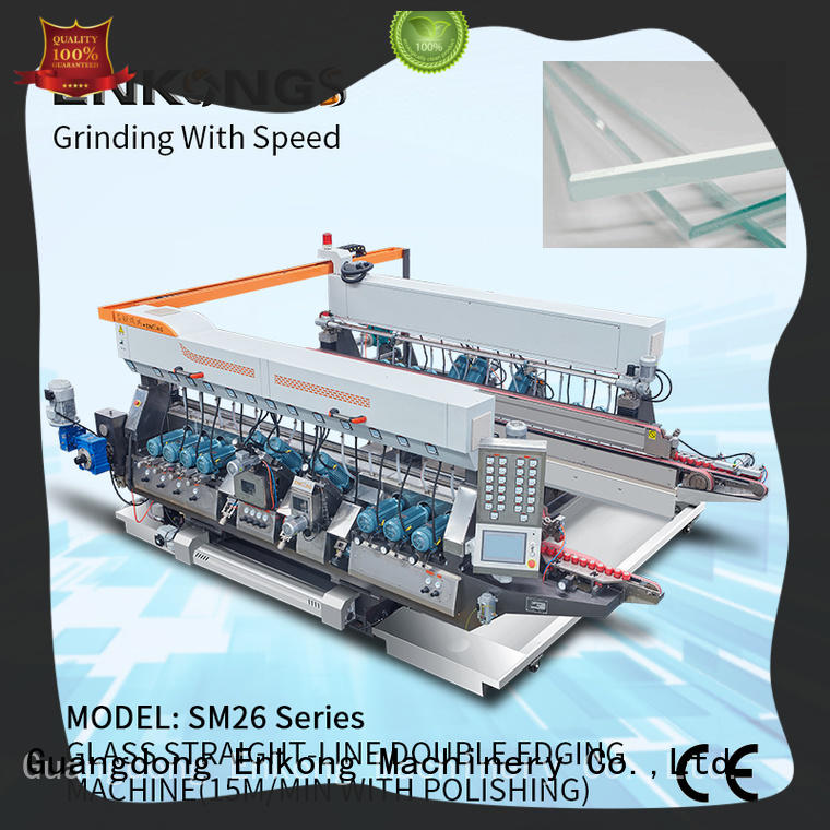 Enkong modularise design glass double edging machine factory direct supply for round edge processing