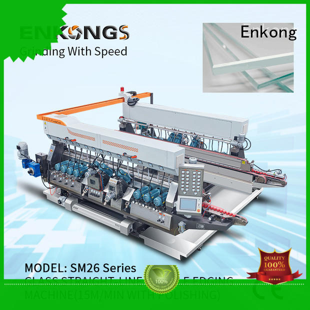 real glass double edging machine straight-line series for round edge processing