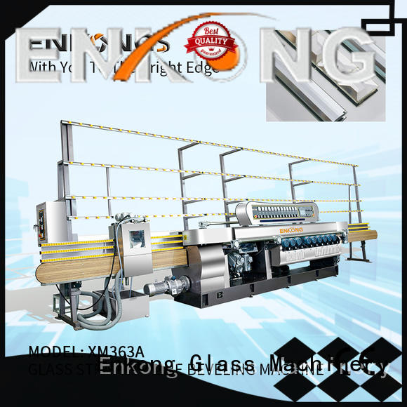Enkong efficient glass beveling machine factory direct supply for glass processing
