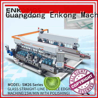 Enkong SM 26 glass double edging machine manufacturer for round edge processing