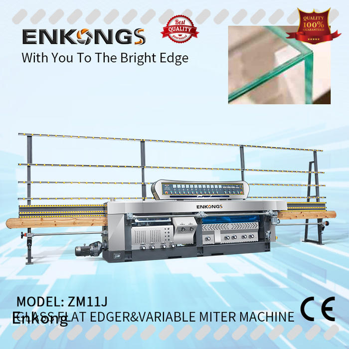 Enkong top quality glass mitering machine supplier for polish
