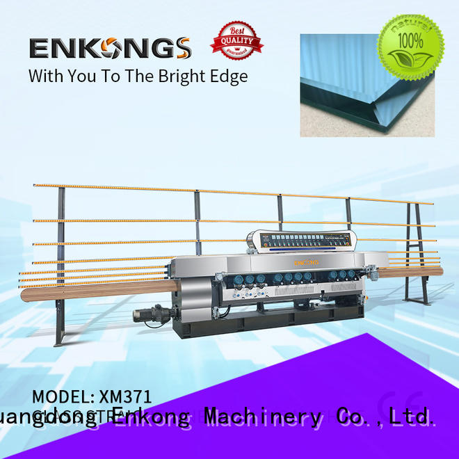 Enkong long lasting glass beveling machine factory direct supply for glass processing