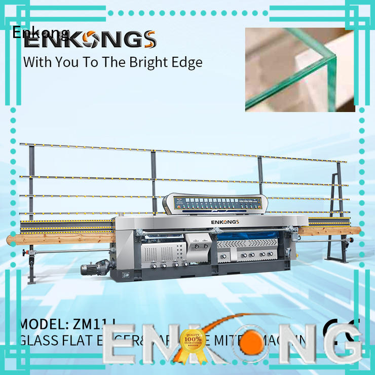 Enkong variable glass mitering machine customized for polish