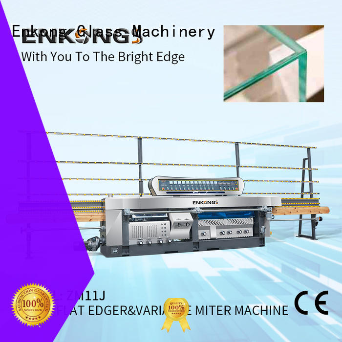 real glass mitering machine 5 adjustable spindles customized for grind
