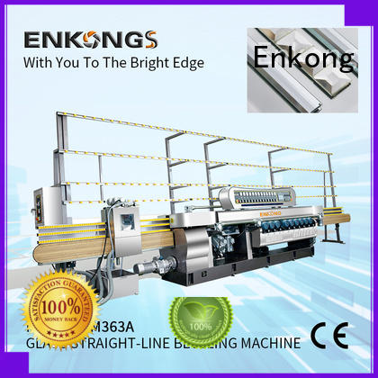 Enkong xm351a glass beveling machine for sale factory direct supply for glass processing