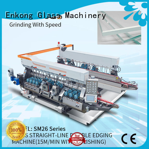 Enkong SM 12/08 double edger machine manufacturer for photovoltaic panel processing