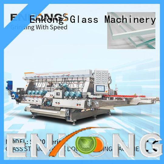 Enkong cost-effective glass double edging machine factory direct supply for household appliances